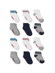 Hanes Ankle Socks, 12-Pack (Baby Boys & Toddler Bo