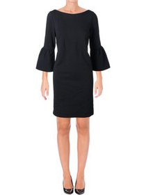 Lafayette 148 New York Womens Bell Sleeves Boatnec