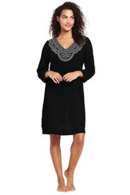 Lands End Women's Embroidered Woven Tunic Cover-up