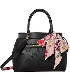 Betsey Johnson Satchel with Scarf