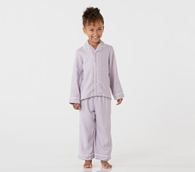 Pottery Barn Lavender Solid Flannel Pajama