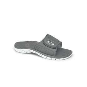 Oakley Supercoil Slide Sandals - GRAY/WHITE