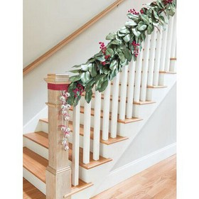 Faux Magnolia Leaf Holiday Garland, 5-ft. - ARTY I