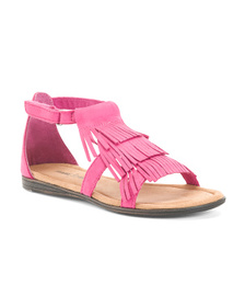MINNETONKA Triple Layer Fringe Sandal (Little Kid,