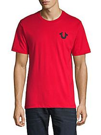 True Religion Logo-Accent Cotton T-Shirt RUBY RED