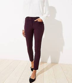 Twill Skinny Ankle Pants