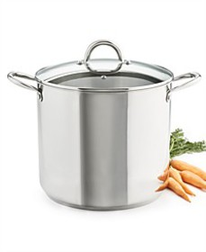 16-Qt. Stainless Steel Stockpot with Lid, Created