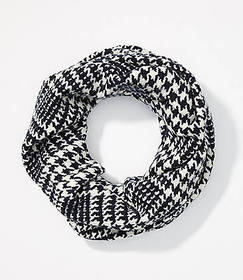 Houndstooth Plaid Blanket Infinity Scarf