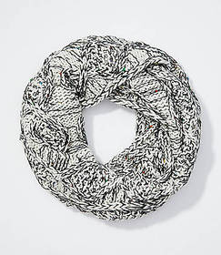 Marled Cable Infinity Scarf