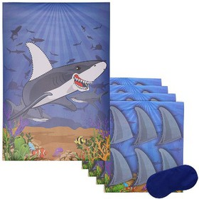 Juvale Pin The Fin On The Shark Game for Kid's Oce