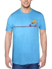 Men's and Big Men's Sun Dawn Surfer Graphic T-Shir