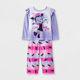 Toddler Girls' 2pc Vampirina Poly Pajama Set - Pur