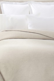 Melange Home White Linen King Duvet Cover