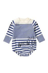 Burberry Stripe Print Long Sleeve Bodysuit (Baby G