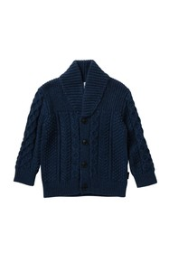 Burberry Shawl Collar Cardigan (Toddler Boys)