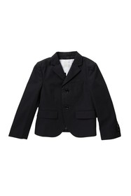 Burberry Two-Button Notch Collar Blazer (Little Bo