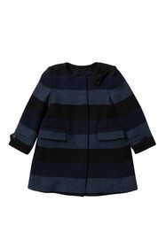 Burberry Adena Plaid Coat (Toddler Girls)