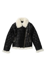 Burberry Mini Bridlington Genuine Shearling Trim J
