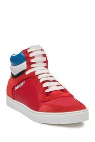 Burberry London Red Reeth High Top Sneaker