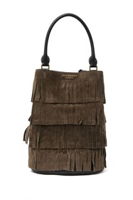 Burberry All Bucket Tiered Fringe Hobo
