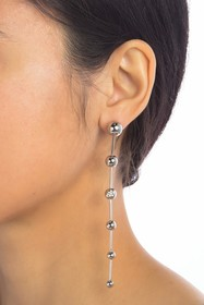Burberry Long Graduated Ball Earrings