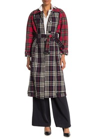 Burberry Long Plaid Trench Coat