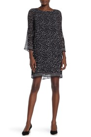 Max Studio Printed Pleated Dress