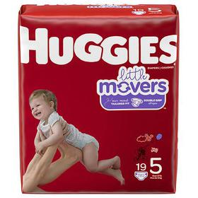 Huggies Little Movers Diapers, Size 5 for Active B