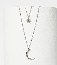 Moon & Star Delicate Necklace Set