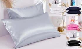 Soft Satin Silk Pillowcase Pillow Cover for Hair a