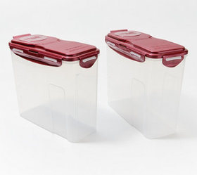 LocknLock Set of 2 Cereal Containers Storage Set -