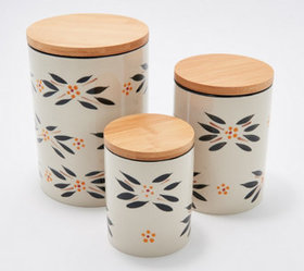 Temp-tations Old World Set of 3 Nested Ceramic Can