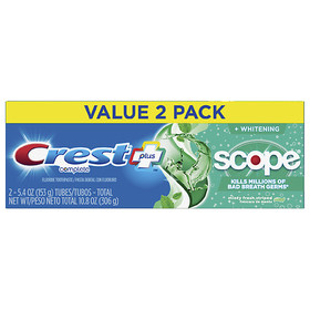 Crest Plus Scope Complete Whitening Toothpaste