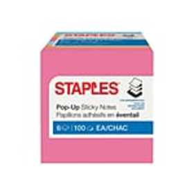 Staples Stickies Pop-Up Standard Notes, 3 x 3 Asso