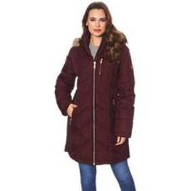 Womens Michael Kors Down Coat with Removable Fur T