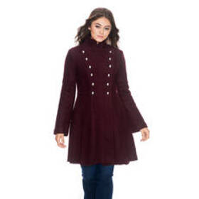 Womens Guess Boiled Wool Double Breasted Coat