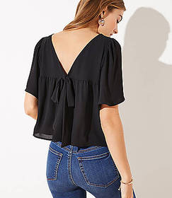 Bow Back Cropped Top