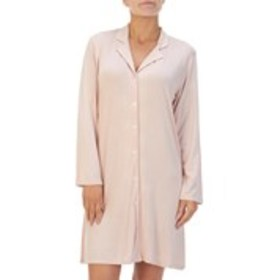 Soft Cozy Button Up Long Sleeve Nightshirt