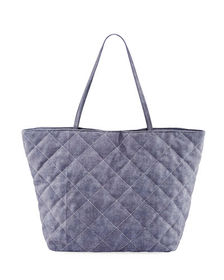 Neiman Marcus Diamond Quilted Tote Bag
