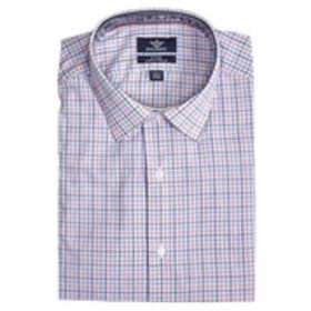 Mens Slim Fit Stretch Collar Long Sleeve Check But