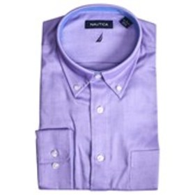 NAUTICA Mens Classic Fit Wrinkle Free Stretch Purp