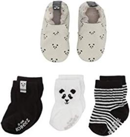 Robeez Piper Panda Sock and Soft Sole Gift Set (In