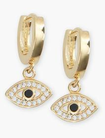 Lucky Brand Pave Evil Eye Earrings