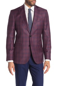 Ted Baker London Jarrow Berry Plaid Two Button Not