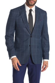 Ted Baker London Jarrow Teal Windowpane Two Button