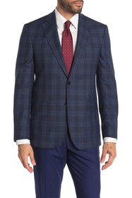 Ted Baker London Jarrow Navy Check Two Button Notc