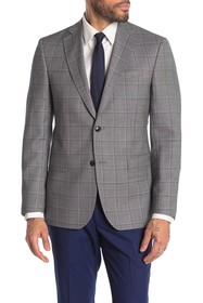 Ted Baker London Jarrow Grey Windowpane Two Button