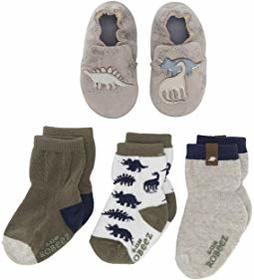 Robeez Ramsey Sock and Soft Sole Gift Set (Infant/