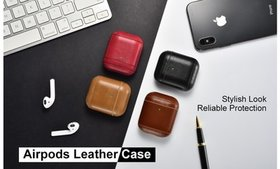 Beautiful Leather Cases for AirPods 1 & 2 with Key