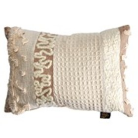 DEVI DESIGNS Feather Filled Embroidered Throw Pill